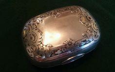 Vintage Art Nouveau Sterling Silver Trinket Box - Signed #Unknown