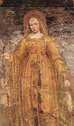 St Catherine of Alexandria  Ambrogio Bergognone        (1495)    Detached fresco,   Pinacoteca di Brera, Milan