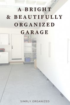 Simply Done: A Bright & Tidy Garage