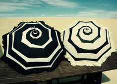 Black and White or Cream and Black Ruffle Spiral by UandTEmporium