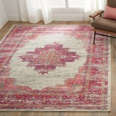 Shop Nourison Passion Ivory/Fushia Area Rug - 3'9 x 5'9 - On Sale - Free Shipping Today - Overstock.com - 16804927
