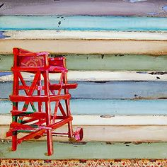 """Swim At Your Own Risk - Danny Phillips art print, UNFRAMED, Lifeguard Beach chair sailing coastal ocean adirondack nautical art wall & home decor poster, ALL SIZES. This is a reproduction fine art print of a Danny Phillips' original mixed media painting. This poster comes UNFRAMED and is the perfect gift for the boat and sailing lover. This print comes square with flush edges or in standard sizes with 1/2"""" side white border backgrounds.**See pictures for examples**.This gift is an ideal..."""