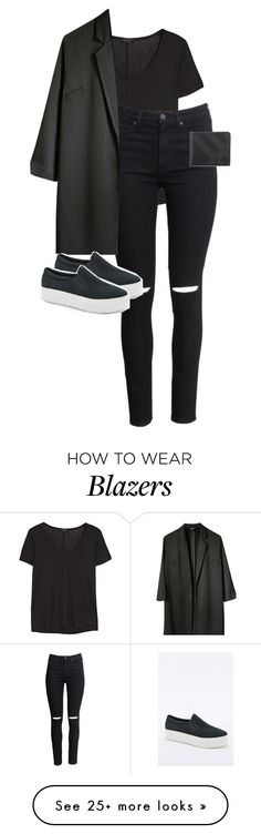 """""""Untitled #12292"""" by alexsrogers on Polyvore featuring The Row, H&M, Topshop, Vagabond and Burberry"""
