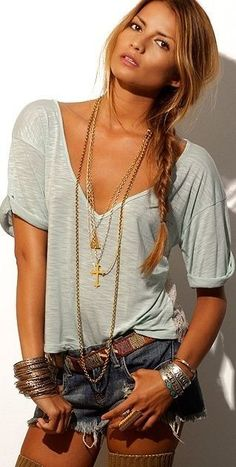 ༺✿ Boho Chic ** ✿༻ *Boho chic.love the look....Modify shorts with jeans or skirt if needed to make look age friendly