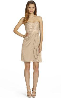 A-line Zipper Natural #Chiffon Sleeveless #Bridesmaid Dresses