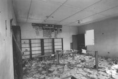Library of Episcopal schools in Robertsport  Liberia, destroyed during war