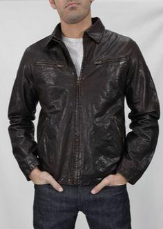 Cafe Leather Jacket available at jacobdavisusa.com.  #leather #jacket #menswear #fashion #style #fall