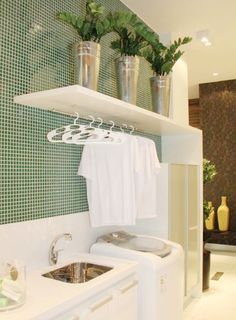 60 drying room design ideas that you can try in your home 54 ~ Litledress Small Apartments, Small Spaces, Interior Design Living Room, Living Room Designs, Drying Room, Laundry Room Organization, Organizing, Laundry Room Design, Kitchen Decor