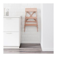 BEKVÄM Stepladder, 3 steps IKEA Can be folded to save space. Solid wood is a durable natural material. At Home Furniture Store, Modern Home Furniture, Kitchen Step Ladder, Kitchen Step Stool, Step Stools, Ikea Bekvam, Ikea Wall, Home Board, Kitchen Dinning