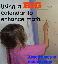 using a big calendar to enhance math lessons