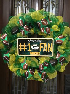 Green Bay Packers Wreath by CC4AllOccasions on Etsy