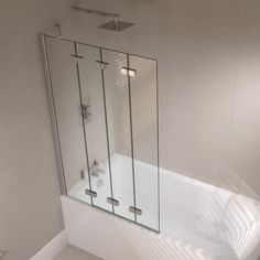 April Prestige Frameless 4 Fold Right Hand Bath Screen
