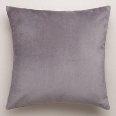 "$9.99 - $29.99 18""x18"" / 24""x24"" Gray-Velvet Throw Pillows | World Market"