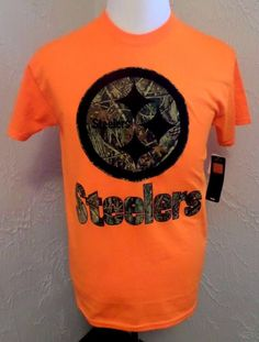 "NWT Pittsburgh Steelers Majestic NFL ""Hunter Camo"" Men's Short Sleeve T-Shirt #Majestic #PittsburghSteelers"