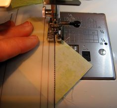 How to make a quick and easy template tool for sewing half square triangles or square-in-a-square blocks.
