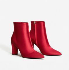 Mango Satined Fabric Ankle Boots
