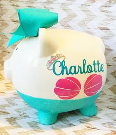 Personalized piggy bank glitter piggy bank by glitzymissdesignsco piggy bank glitter piggy bank baby gift princess piggy bank personalized piggy bank coin bank negle Choice Image