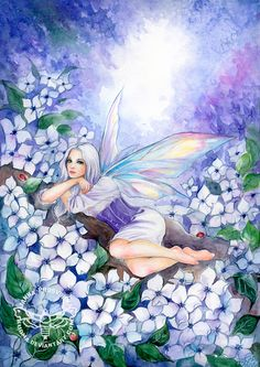 Fantasy art from many different artist. Elves, dragon, and fairy's Oh My. Angels, unicorn and. Blue Fairy, Fairy Land, Fairy Tales, Unicorn And Fairies, Flower Fairies, Fairy Paintings, Kobold, Fairy Pictures, Beautiful Fairies