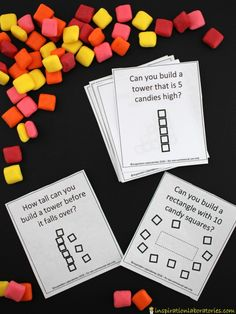 Are you ready for a STEM challenge? Download our candy building challenge cards and have some fun.