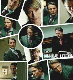 Hannibal's many faces. #hannibal #nbc