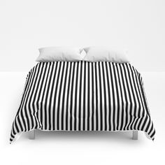 Simply small black and white handrawn stripes - vertical - Mix & Match with Simplicty of life Comforters by simplicity_of_live Duvet, Bedding, Mix Match, Comforters, Art Deco, Stripes, Comfy, Black And White, Sweet Sweet