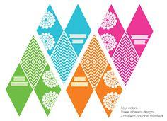 My Little Party Blog. DIY: Banderines de colores.