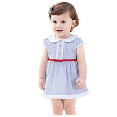 MONIOW Baby Summer Clothes Baby Girls Infant Cotton Rompe...