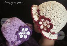 Flowers by the Seaside - free crochet hat pattern