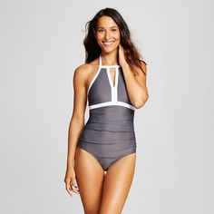 Women's Keyhole High Neck One Piece -