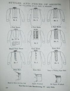 Buns and Baskets: Men's Shirts & Waistcoats The Effective Pictures We Offer You About Historical Fashion 1500 A quality picture can tell you many things. You can find the most beautiful pictures that Victorian Shirt, Pioneer Trek, Banded Collar Shirts, White Shirt Men, Civil War Dress, Leather Workshop, Western Shirts, Historical Clothing, Couture
