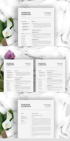 Clean and Simple CV Resume & Cover Letters Microsoft Word Resume Template, Sample Resume Templates, Resume Design Template, Cv Template, Simple Cv, Guide Words, Resume Words, Cover Letter For Resume, The Help