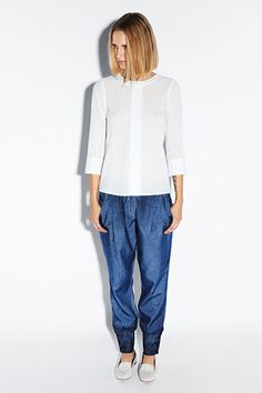 Interesting new J Brand pants silhouette from ready to wear collection.