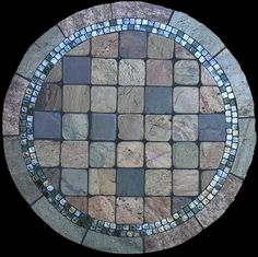 Colorado Natural Stone Tabletop from Mosaic Stone Tables - this pattern would match my living/dining room perfectly.
