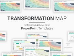 Transformation Map PowerPoint Templates Diagrams Powerpoint Tutorial, Ppt Template, Powerpoint Presentation Templates, Strategic Planning Process, Strategic Goals, Ppt Slide Design, Icon Font, 6 Years, Leadership