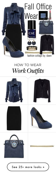 """Fall Work Wardrobe"" by dawn-lindenberg on Polyvore featuring Bobbi Brown Cosmetics, Crabtree & Evelyn, Tory Burch, Lord & Taylor, Michael Kors, Safiyaa, Alexander Wang, Rena Lange, LORAC and Nine West"