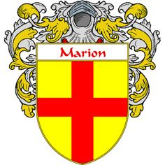Marion Coat of Arms   http://spanishcoatofarms.com/ has a wide variety of products with your Hispanic surname with your coat of arms/family crest, flags and national symbols from Mexico, Peurto Rico, Cuba and many more available upon request.