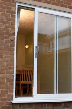 White 2 pane sliding patio doors patio doors pinterest patio white upvc patio sliding doors planetlyrics Images
