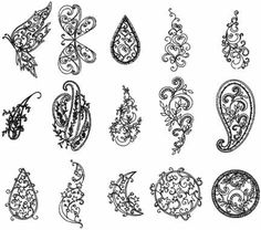 Free Paisley Embroidery Designs | DigiBobbE®; Collection 3: Paisley Gems