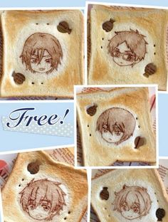 Free!, Gintama, Attack on Titan and more featured in toast and cookie artworks - SGCafe
