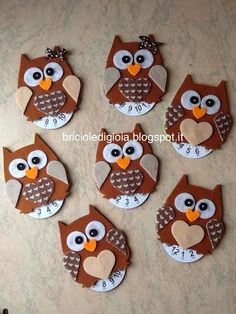 Clay Crafts, Crafts For Kids, Paper Crafts, Handmade Christmas, Christmas Gifts, Christmas Decorations, Creative Activities For Kids, Diy For Kids, Owl