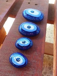 Eye Painting, Pebble Painting, Stone Painting, Stone Crafts, Rock Crafts, Evil Eye Art, Greek Evil Eye, Greek Blue, Eyes Wallpaper