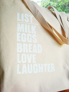 The Simple List Everyday Market & Tote Bag...100% Recycled Canvas Cotton Grocery Eco-Bag. $22.00, via Etsy.