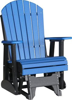 LuxCraft 2 foot Adirondack Recycled Plastic Glider Chair
