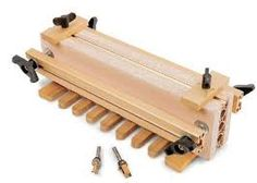 Sommerfeld's Katie Jig Uses a Solid Tuning Fork Set-Up for Guided Joinery Rockler Woodworking, Woodworking Supplies, Diy Projects Engineering, Wood Jig, Dovetail Jig, Tuning Fork, Knife Making Tools, Router Jig, Box Joints