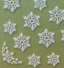 Nail Art 3D Sticker Glitter Decal Snow Flakes Snowflake 46 pcs Christmas Winter