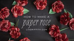 you tube she is incredible  google her work and see her site  How to Make a Paper Rose