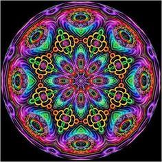 Rainbow Kaleidoscope Hippy Art by Kirsten Star Zentangle, Kaleidoscope Images, Hippy Art, Peace Sign Art, Peace Signs, Hippie Peace, Circle Art, Rainbow Art, Rainbow Colors