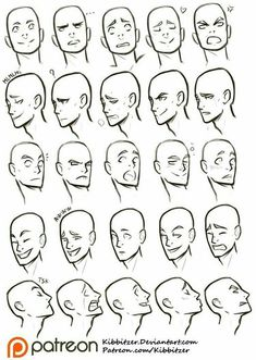 "Facial Expressions reference sheet Official Post from kibbitzer: In the deviantart poll Which Reference Sheets you need? ""facial expressions"" was second! I decided to upload it ""free. Drawing Reference Poses, Anatomy Reference, Face Reference, Animation Reference, Drawing Practice, Figure Drawing, Learn Drawing, Drawing Techniques, Drawing Tips"