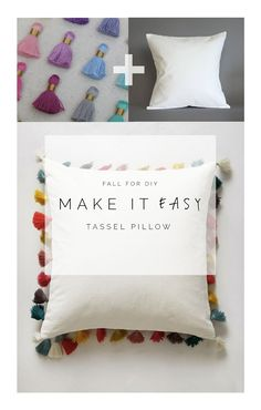 Fall For DIY Make it Easy Tassel Pillow