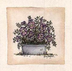 Violets Print by Mary Hughes